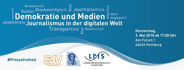 Veranstaltungshinweis: Demokratie und Medien – Journalismus in der digitalen Welt