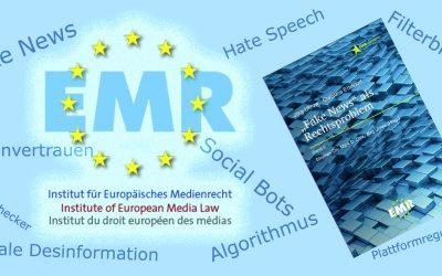 EMR veröffentlicht Band 5 der Reihe EMR/Script: «»Fake News» als Rechtsproblem»