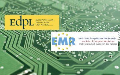 EMR veröffentlicht drei Artikel in der aktuellen Ausgabe der European Data Protection Law Review (EdpL)
