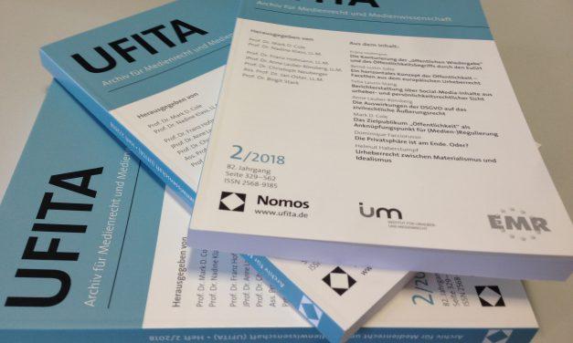 Zweite Ausgabe der 'neuen' UFITA veröffentlicht