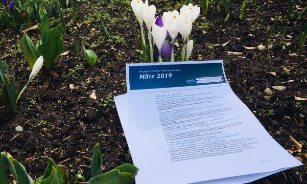 Medienrechtliche Terminvorschau – März 2019