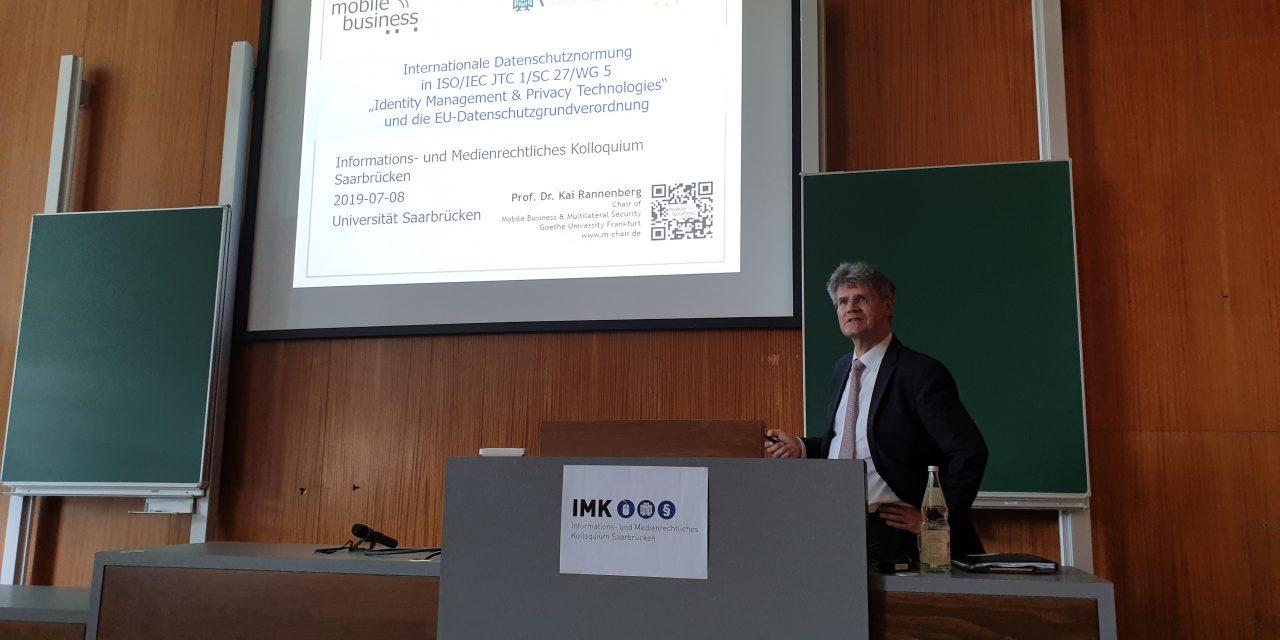IMK Saarbrücken – Rückblick auf den Vortrag zur internationalen Datenschutznormung