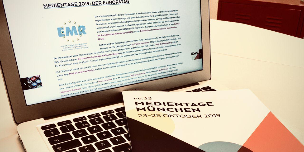 Der Europatag der Medientage München 2019