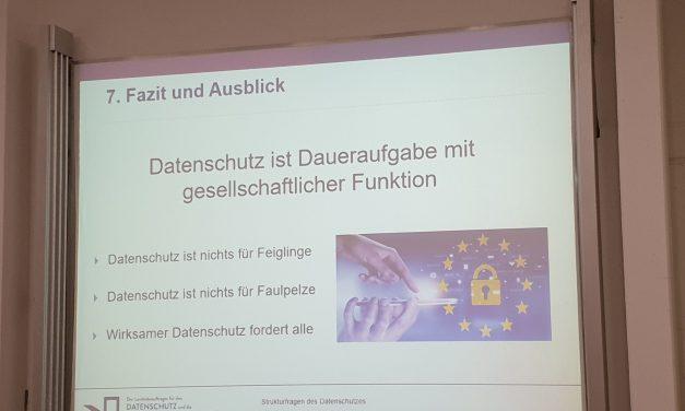 IMK: Der Landesbeauftragte für den Datenschutz Rheinland-Pfalz zu «Strukturfragen des Datenschutzes»